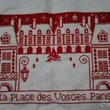 パリの街並みのステッチ(ヴォージュ広場)ー(3)