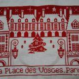 パリの街並みのステッチ(ヴォージュ広場)ー(4)