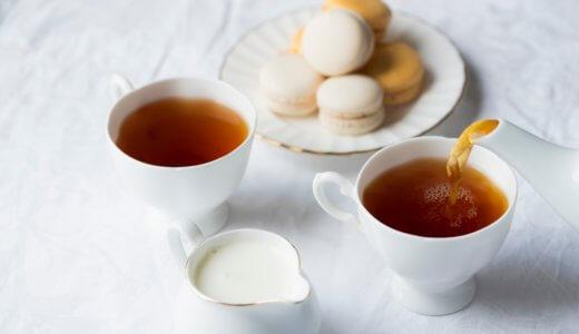 美しい缶の紅茶でティータイム