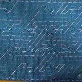 刺し子ふきん『さや形』藍布、完成しました!